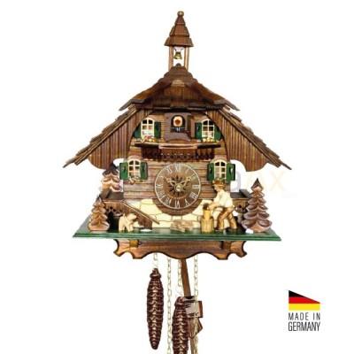 Orologio Cucù automa Taglialegna in legno marrone scuro 31 cm - Made in Germany KK34411