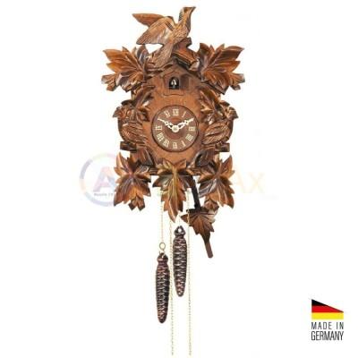 Orologio Cucù carica 8 giorni in legno marrone scuro 35 cm - Made in Germany