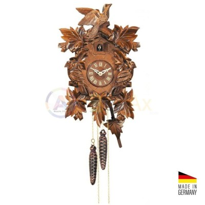 Orologio Cucù carica 8 giorni in legno marrone scuro 35 cm - Made in Germany KK3632-8T