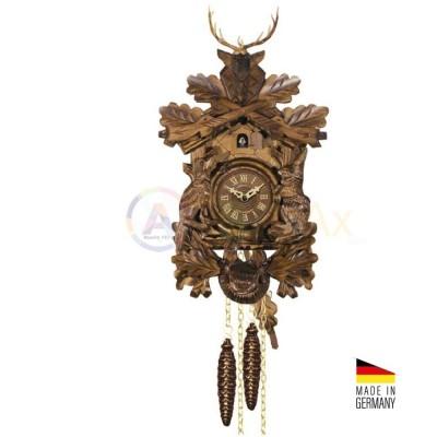 Orologio Cucù trofeo carica 8 giorni legno marrone scuro 48 cm - Made in Germany KK3739-8T