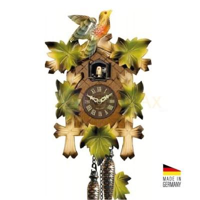 Orologio Cucù al quarzo in legno colorato verde 35 cm - Made in Germany