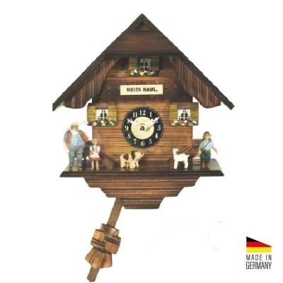 Orologio Cucù casa di Heidi al quarzo in legno colorato 20 cm - Made in Germany
