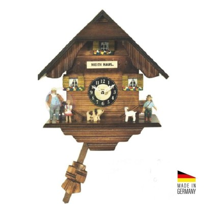 Orologio Cucù casa di Heidi al quarzo in legno colorato 20 cm - Made in Germany KK302263