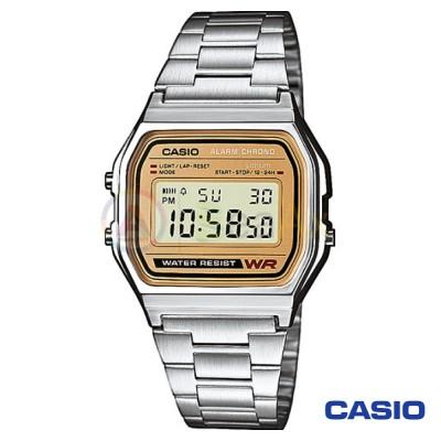 Orologio Casio Vintage A158WEA-9EF unisex acciaio digitale quarzo dorato A158WEA-9EF
