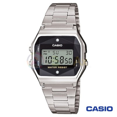 Casio Vintage Watch A159WAD-1 unisex digital steel black quartz