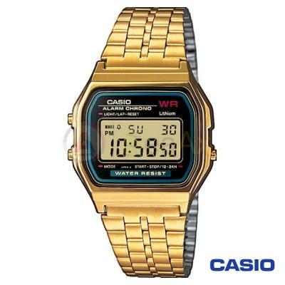 Orologio Casio Vintage A159WGEA-1EF unisex dorato digitale quarzo nero