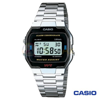 Casio Vintage Watch A163WA-1QES unisex digital steel black quartz