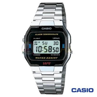 Orologio Casio Vintage A163WA-1QES unisex acciaio digitale quarzo nero A163WA-1QES