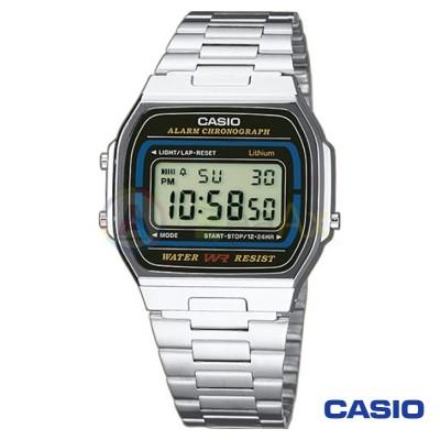 Orologio Casio Vintage A164WA-1VES unisex acciaio digitale quarzo nero A164WA-1VES