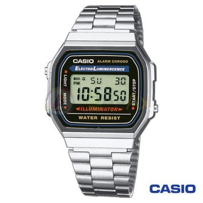 Orologio Casio Vintage A168WA-1YES unisex acciaio digitale quarzo nero A168WA-1YES