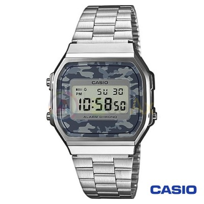 Casio Vintage Watch A168WEC-1EF unisex digital steel black quartz
