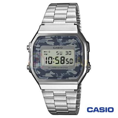 Orologio Casio Vintage A168WEC-1EF unisex acciaio digitale quarzo camo