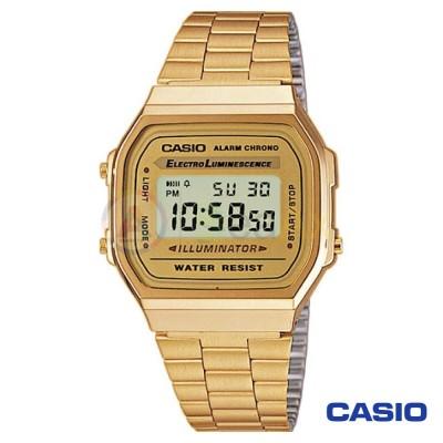 Orologio Casio Vintage A168WG-9EF unisex dorato digitale quarzo nero