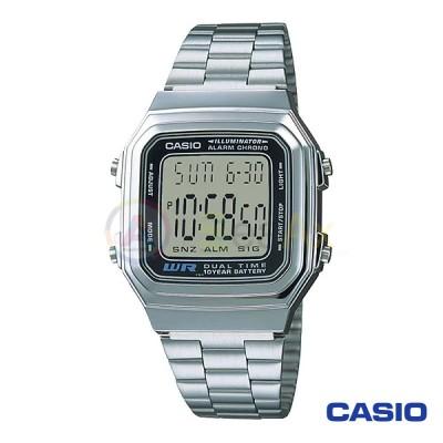 Orologio Casio Vintage A178WA-1A unisex acciaio digitale quarzo nero A178WA-1A