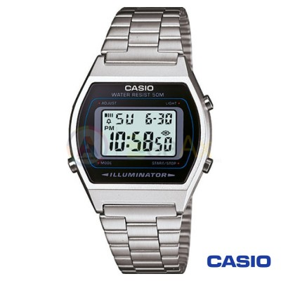 Casio Vintage Watch B640WD-1AVEF unisex digital steel black quartz