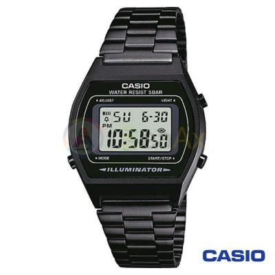 Orologio Casio Vintage B640WB-1AEF unisex acciaio digitale quarzo nero