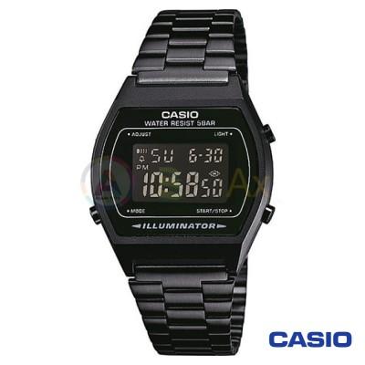 Orologio Casio Vintage B640WB-1BEF unisex acciaio digitale quarzo nero