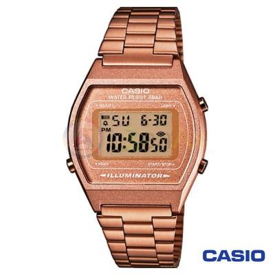 Orologio Casio Vintage B640WC-5AEF unisex acciaio digitale quarzo ramato B640WC-5AEF