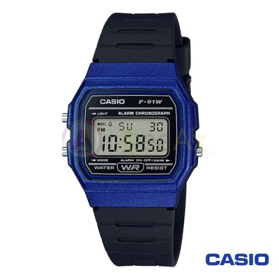 Orologio Casio Collection F-91WM-2AEF unisex resina digitale quarzo nero