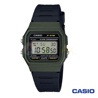 Orologio Casio Collection F-91WM-3AEF unisex resina digitale quarzo nero