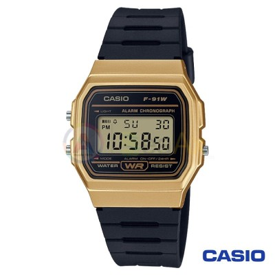 Casio Collection watch F-91WM-9AEF unisex black quartz digital resin