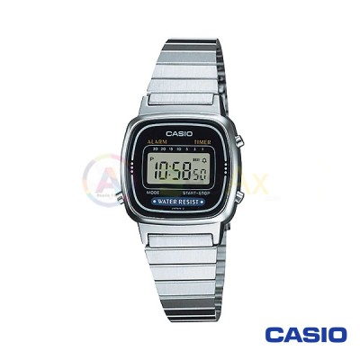 Casio Vintage Watch LA670WA-1DF woman in digital quartz neutral steel