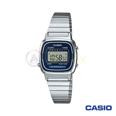 Casio Vintage Watch LA670WA-2DF woman in digital quartz neutral steel
