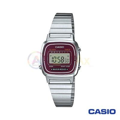 Orologio Casio Vintage LA670WA-4DF donna acciaio digitale quarzo viola LA670WA-4DF