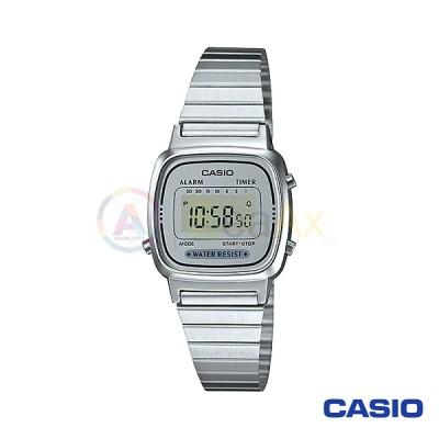 Orologio Casio Vintage LA670WA-7DF donna acciaio digitale quarzo grigio