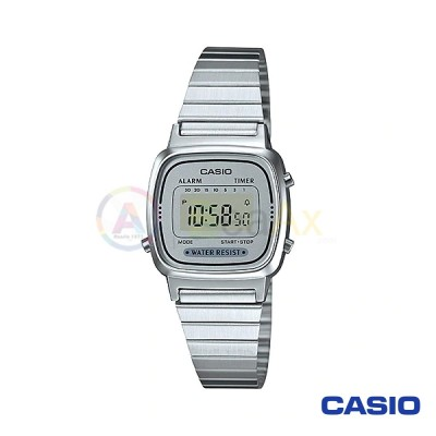 Orologio Casio Vintage LA670WA-7DF donna acciaio digitale quarzo grigio LA670WA-7DF