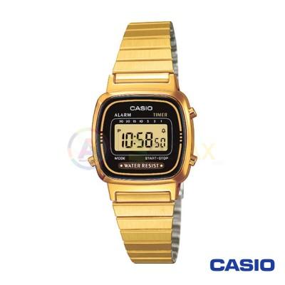 Orologio Casio Vintage LA670WEGA-1DF donna dorato digitale quarzo nero
