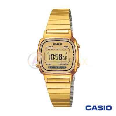 Casio Vintage Watch LA670WEGA-9DF woman golden digital black quartz
