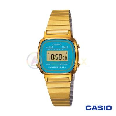 Orologio Casio Vintage LA670WGA-2DF donna dorato digitale quarzo nero