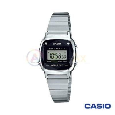 Casio Vintage Watch LA670WAD-1 woman in digital quartz neutral steel