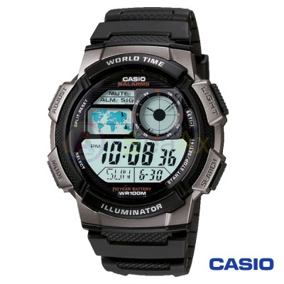 Orologio Casio Collection AE-1000W-1BVEF uomo resina digitale quarzo argento nero
