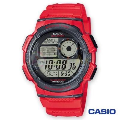 Casio Collection watch AE-1000W-4AVEF man red quartz digital resin
