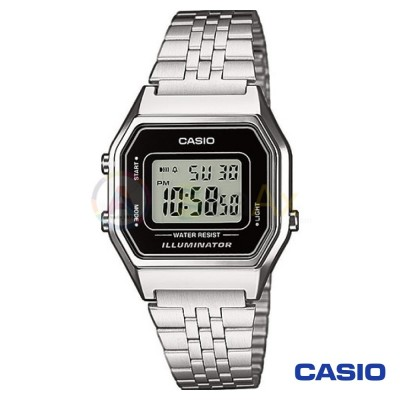 Casio Vintage Watch LA680WEA-1D woman in digital quartz neutral steel