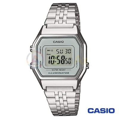 Casio Vintage Watch LA680WEA-7D woman in digital quartz neutral steel