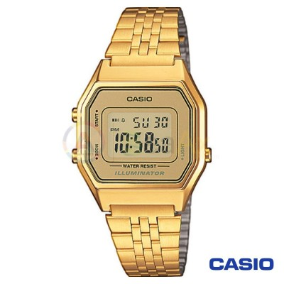 Casio Vintage Watch LA680WEGA-9D woman in digital quartz neutral steel
