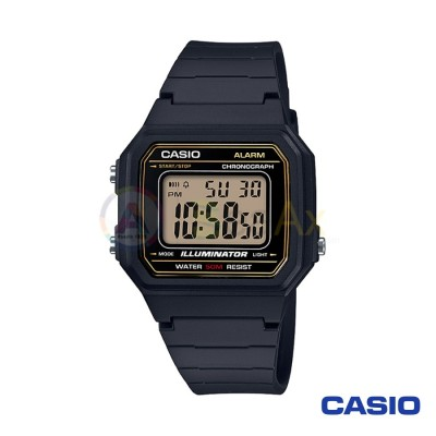 Orologio Casio Collection W-217H-9AVEF unisex resina digitale quarzo nero