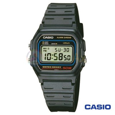 Orologio Casio Collection W-59-1VQES unisex resina digitale quarzo nero