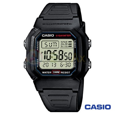 Orologio Casio Collection W-800H-1AVES uomo resina digitale quarzo nero