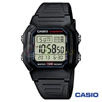 Orologio Casio Collection W-800H-1AVES uomo resina digitale quarzo nero W-800H-1AVES