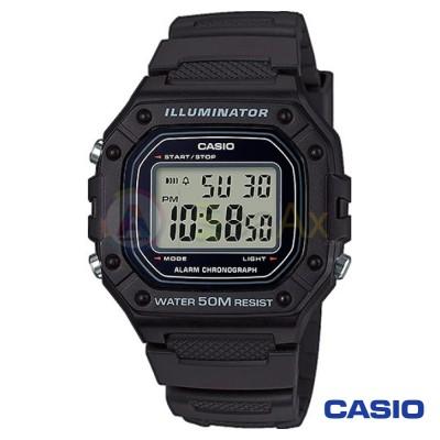 Casio Collection watch W-218H-1AVEF man quartz digital steel resin