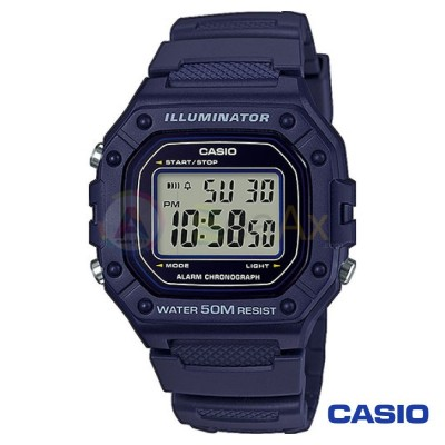 Casio Collection watch W-218H-2AVEF man quartz digital steel resin