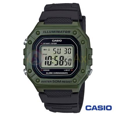 Casio Collection watch W-218H-3AVEF man quartz digital steel resin