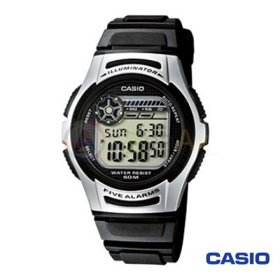 Orologio Casio Collection W-213-1AVES uomo resina acciaio digitale quarzo