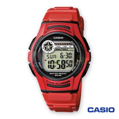 Casio Collection watch W-213-2AVES man quartz digital steel resin
