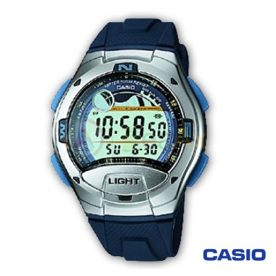 Casio Collection watch W-753-2AVES man stainless steel digital quartz neutral
