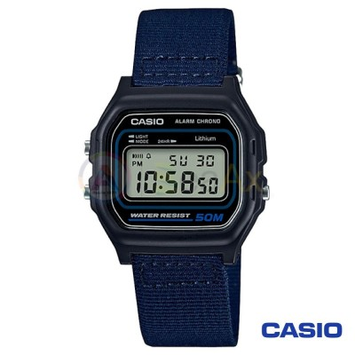 Orologio Casio Collection W-59B-2AVQES unisex digitale cinturino tessuto blu